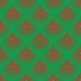 Vector pattern - red and green squamous Stock Images