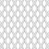 Vector pattern, repeating abstract garland decorates with small squares on wavy line. Royalty Free Stock Photo