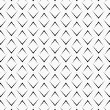 Vector pattern repeating black angle brackets on white background. Chevrons abstract ornament. Modern japanese scallops motif. stock illustration