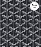 Vector pattern, Repeating geometric tiles with filled dots hexagons. Pattern is on swatches panel stock illustration