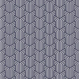 Vector pattern. Repeating geometric tiles with linear striped rhombuses Stock Photography