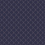 Vector pattern repeating golden angle brackets on dark blue background. Chevrons abstract ornament. Modern japanese scallops motif stock illustration