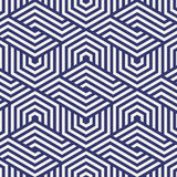 Vector pattern. repeating hexagon grid. Abstract stripped geometric background. Vector illustration. stock illustration