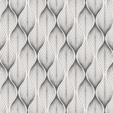 Vector pattern, repeating linear leaves or leaf, monochrome stylish clean design for fabric, wallpaper, printing. Royalty Free Stock Photography