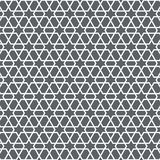 Vector pattern, repeating stripe linear intersecting hexagons and abstract star shape at center. Pattern is on swatches panel stock illustration
