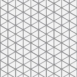 Vector pattern. Repeating striped triangles with shadow on hexagon. Stock Photos