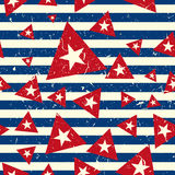 Vector Pattern 60s. Seamless Background Inspired Flag Of Cuba. Vector Pattern 60s. Seamless Inspired Flag Of Cuba Stock Images