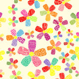 Vector Pattern 60s. Seamless Background Inspired Flower Power. Counterculture, Social Revolution In 1960s Stock Images