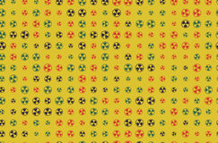 Vector Pattern 60s. Seamless Background With Nuclear Icon. Radioactive Symbol. Vector Pattern 60s. Seamless Background With Nuclear Icon. Radioactive Royalty Free Stock Photography