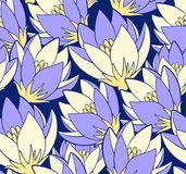Vector pattern with saffrons. royalty free illustration