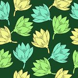 Vector pattern with saffrons. stock illustration