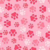 Vector pattern seamless of background animal pink footprints and paw. Vector pattern seamless of background animal footprints and paw Royalty Free Stock Photography