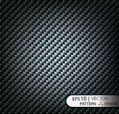 Vector Pattern seamless carbon fiber black under mask for the production of film with a texture. EPS10 Stock Photography