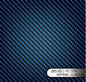 Vector Pattern seamless carbon fiber blue under mask for the production of film with a texture. EPS10 Stock Photo