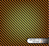 Vector Pattern seamless carbon fiber orange under mask for the production of film with a texture. EPS10 Royalty Free Stock Photography