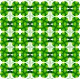 Clover. The ornament of the flower quatrefoil. Symbol of good luck. Seamless pattern. royalty free illustration