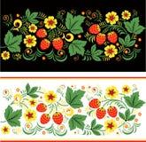 Vector pattern seamless khokhloma Russians Royalty Free Stock Photos
