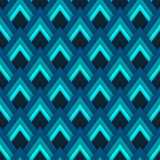 Vector pattern seamless pattern with blue rhombuses Stock Images