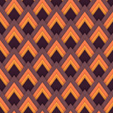 Vector pattern seamless pattern with red rhombuses Stock Photos
