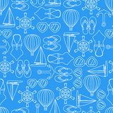 Vector pattern seamless texture of summer symbols. Vector pattern seamless background of summer symbols Stock Image