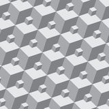 Vector pattern - seamless three-dimensional patter Stock Image