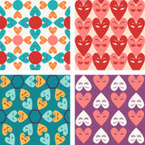Vector pattern seamless of Valentine hearts - Illustration Stock Photos