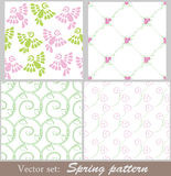 Vector pattern set Stock Photography