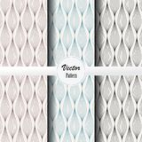 Vector pattern set of abstract background of garland in different colors. Vector clean design for wallpaper, printing, fabric. Easily edited and user can move Royalty Free Stock Photos