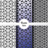 Vector pattern set of abstract linear stripe flower on hexagon shape in sizes and colors. Vector clean design for wallpaper, printing, fabric, easily edited Stock Photo
