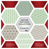 Vector pattern set for decoration and design Stock Photos