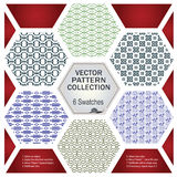 Vector pattern set for decoration and design Stock Image
