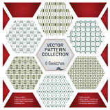 Vector pattern set for decoration and design Stock Images