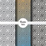 Vector pattern set of stripe line and square at center in different colors. Vector clean design for wallpaper, printing. Fabric, easily edited and user can Royalty Free Stock Photos