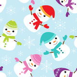 Vector pattern with snowmen Royalty Free Stock Photography