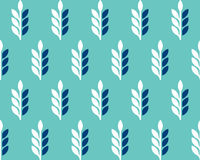 Vector pattern with spikelets of wheat Stock Images