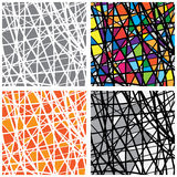 Vector pattern stained glass color pieces Royalty Free Stock Photography