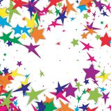 Vector pattern with stars. Colorful background. Vector Stock Images