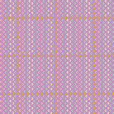 Vector pattern with stripes, squares and rhombuses Royalty Free Stock Photography