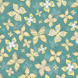 Vector pattern with stylized butterflies Royalty Free Stock Photos