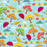 Vector pattern with symbols of autumn Stock Photos