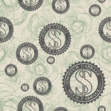 Vector pattern with symbols of money Stock Image