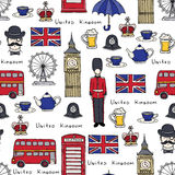 Vector pattern on the theme of United Kingdom Royalty Free Stock Photography