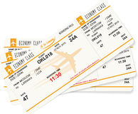 Vector pattern of three boarding passes Royalty Free Stock Photo