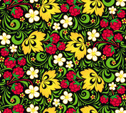 Vector pattern traditional Russian style Hohloma Stock Photo