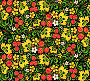 Vector pattern traditional Russian style Hohloma Stock Photos