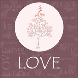 Vector pattern for Valentines Day or Wedding invitation Stock Photography