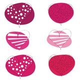Vector pattern of valentines hearts on white Stock Photography