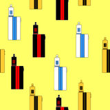 Vector pattern of vaporizers. Vector pattern of vaporizer on yellow background Royalty Free Stock Image