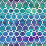 Vector pattern with watercolor geometric patterns Stock Photography