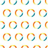 Vector Pattern Watercolor Ring. Vector watercolor pattern. Colorful ring texture. Vector design elements Vector Illustration